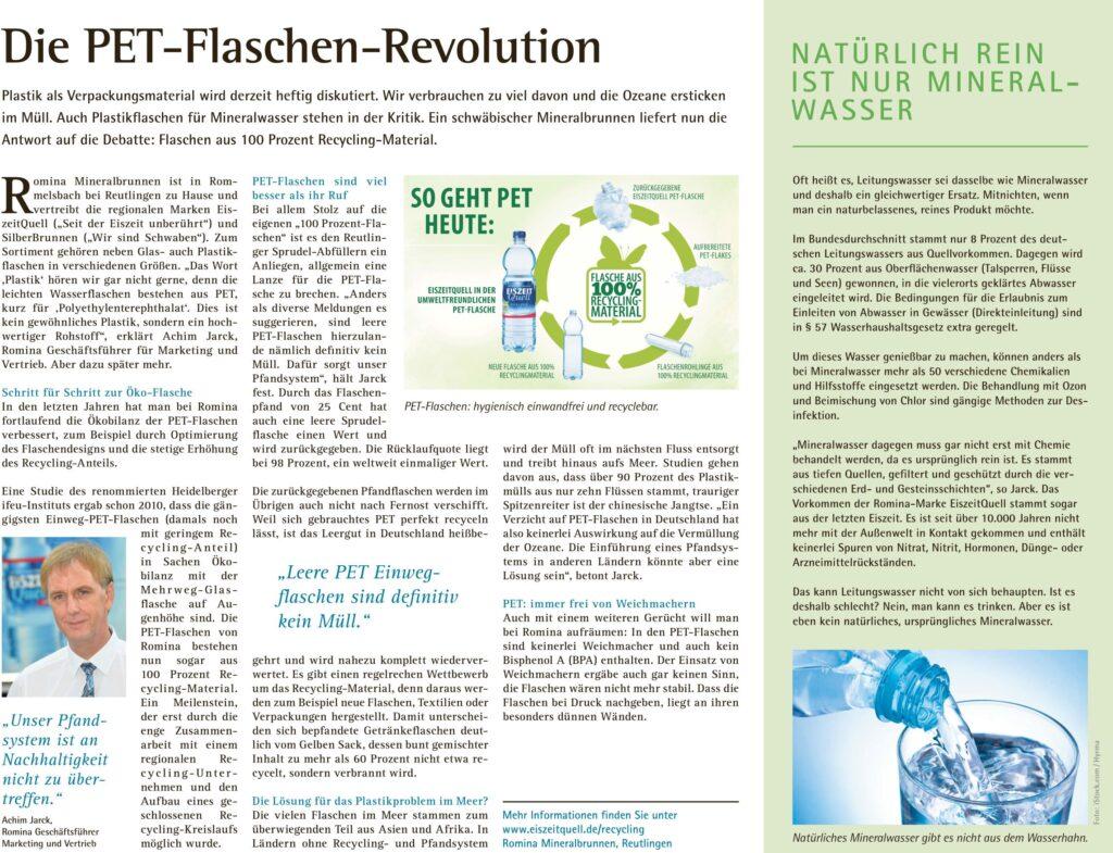 Petcycle Eiszeitquell Mineralwasser Die PET Flaschen Revolution