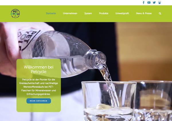 Petcycle Neue Website Zu PET Stoffkreislauf